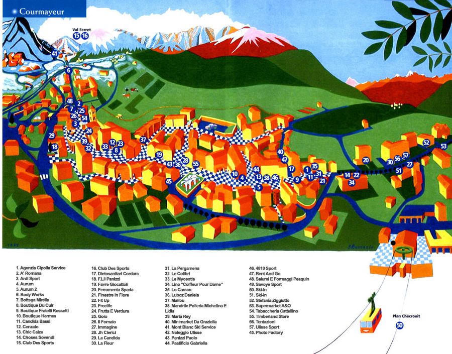 Courmayeur maps find your way in courmayeur town courmayeur shops map gumiabroncs Image collections
