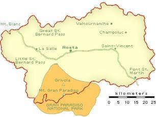 Highway A5 Turin-Aosta-Courmayeur - crossing Aosta Valley