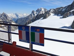 The border between France and Italy, Punta Helbronner