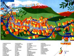 Courmayeur Shops Map