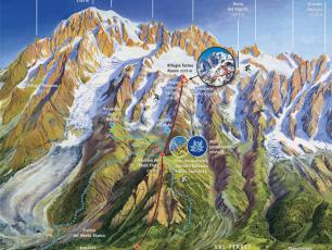 The map of the Funivia du Monte Bianco