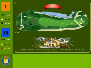 First Hole at Courmayeur Golf Club