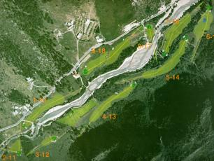 The map of the Courmayeur Golf Club