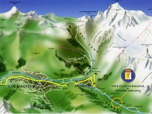 The location of the Courmayeur Golf Club