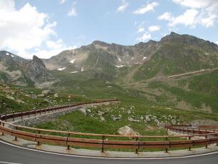 The road to the Col du Grand Saint Bernard, Aosta Valley, Italy