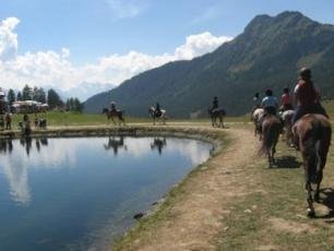 Horse Riding path in Aosta Valley