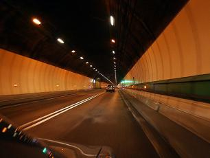 Inside the Mont Blanc Tunnel