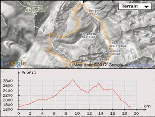 Pointe des Angroniettes Courmayeur Mont Blanc Map
