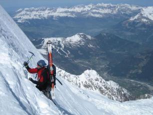 Climbing Mont Blanc du Tacul