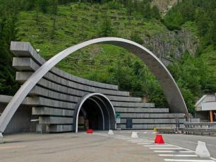 The Mont Blanc Tunnel (italian side)