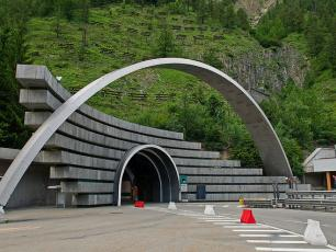 Italian side of the Mont Blanc Tunnel