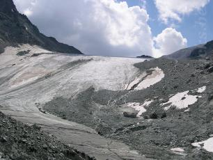 A Glacier during the Tour of the Cervin / Matterhorn