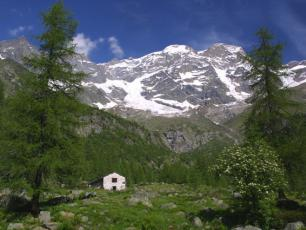 Monte Rosa Group of Mountains - View from Italy