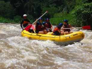 Rafting in Dora Baltea River