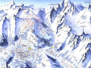 Ski Resorts Map in Courmayeur