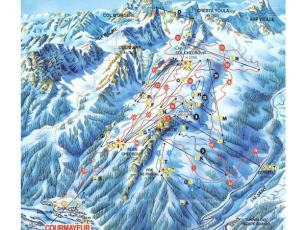 Ski Resorts Courmayeur Map