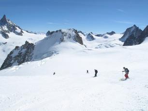 Huge ski and views... Vallée Blanche