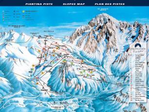 Slopes Map Courmayeur Italy
