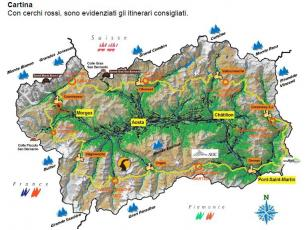 The map of the Tor des Géants